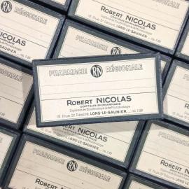 boite verte robert nicolas ancien vintage médicament santé pharmacie 1940