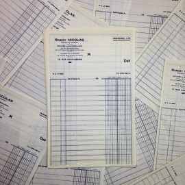 robert nicolas ancien vintage facture pharmacie papier 1940