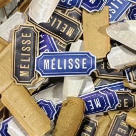 mélisse antique vintage paper label small pharmacy 1940