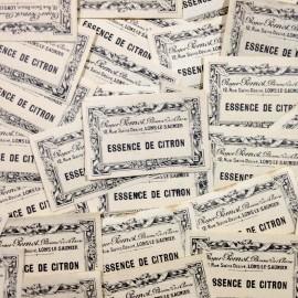 lemon essence label antique vintage paper pharmacy 1920