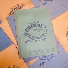 cahier ecole ancien ecolier le le crocodile animal papier 1960