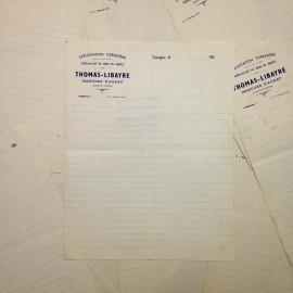 thomas lybaire antique vintage paper sheet white watermark printing factory 1940