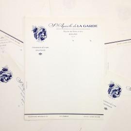 société apicole de la garde antique vintage paper white sheet printing factory 1930