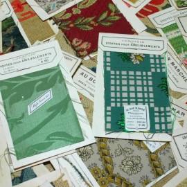 échantillon ancien tissu bon marché samaritaine printemps vintage 1930 art deco