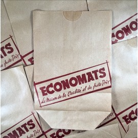 sachet ancien economats épicerie vintage 1950 1960 kraft