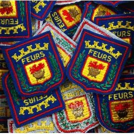 city feurs france patch workshop embroidery antique vintage 1970