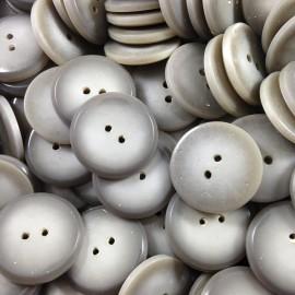 bouton gris bombé plat ancien vintage plastique mercerie 1930 20mm