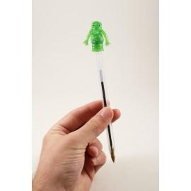 pvc animals tete de stylo ancien vintage 1980 monstre science fiction crayon plastique