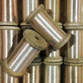 bobine fil acier ancien vintage mercerie 1920 filature
