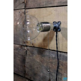 base fonte metal ancienne m10 support luminaire electrique quincaillerie