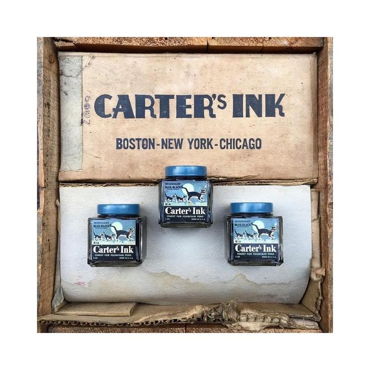 encre encrier carter's ink chat ancien 1940 américain usa