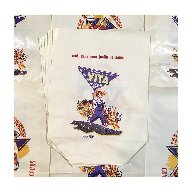 sachet paper vita graines ancien vintage épicerie 1960