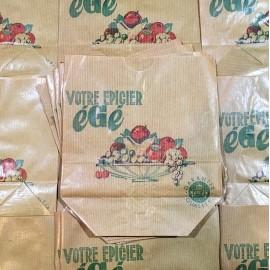 égé économie paper antique vintage grocery 1960 french fruit