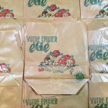 sachet papier égé économie ancien vintage épicerie 1960