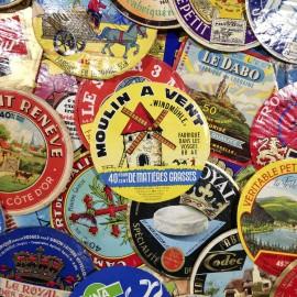 étiquette fromage ancien vintage papier carton fromagerie 1970 1980