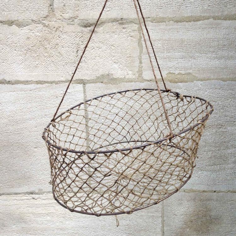 nasse pêcheur ancien fil vintage pêche 1950