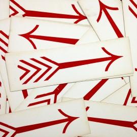 carton ancien flèche rouge direction imprimerie 1950