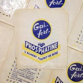 gai fort ancien vintage phosphatine sachet papier épicerie 1960