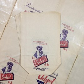 chocolate suchard antique vintage paper bag grocery store 1960