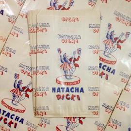 natacha dicki sachet papier ancien vintage  mercerie 1960 laines tricoter