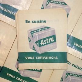 astra paper bag antique vintage grocery store 1960