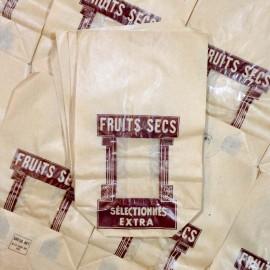 fruits secs sachet ancien vintage papier épicerie 1960