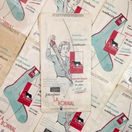 sachet la bonnal ancien vintage papier mercerie 1960