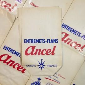 sachet entremets flans ancien vintage ancel zorro papier épicerie 1960