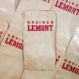 sachet papier ancien vintage graines lemont épicerie 1960