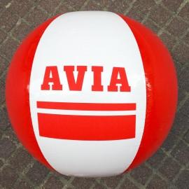 grand ballon publicitaire plage ancien vintage plastique avia garage 1990