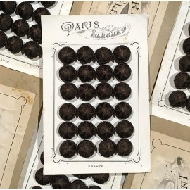 24 fabric 1900 paris elegant antique vintage haberdashery buttons 1900 24mm brown