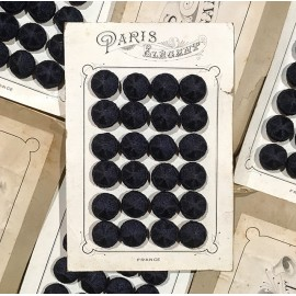 24 fabric 1900 paris elegant antique vintage haberdashery buttons 1900 24mm blue
