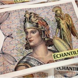 athena sample bill french bank 1980 vintage antique atm zeus waterproof