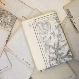 regional map antique vintage paper printing factory 1900