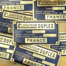brass plate antique vintage duplex elevator 1950