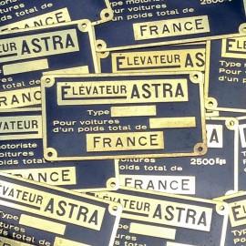 brass plate antique vintage rapid elevator 1950
