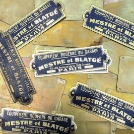 mestre blatgé plate brass antique vintage metal garage factory 1950