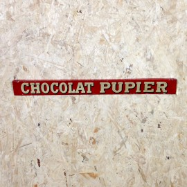 chocolate pupier antique vintage metal plate lithographed grocery 1930 embossed