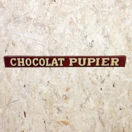 tôle présentoir métal ancien vintage chocolat pupier épicerie 1930
