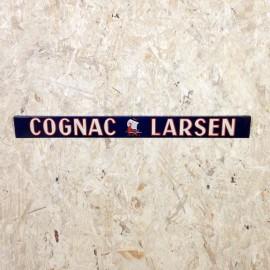 tôle présentoir métal ancien vintage cognac larsen épicerie 1930