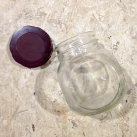 Sisca jar antique vintage glass 1l grocery bakelite 1960