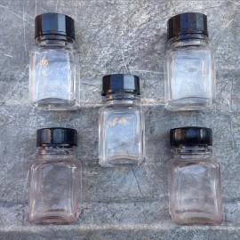 petit bocal flacon verre transparent clair 1930 armée vintage 30ml 0.03l ether pharmacie
