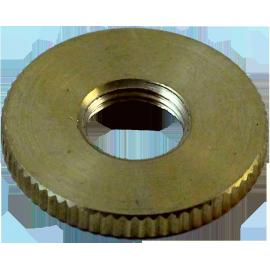 rondelle filetée M10 filetage laiton laitonnée doré or poli métal électrique électricité