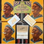 papier feuille a rouler cigarette job joseph bardou ancien vintage 1970 1975 tabac