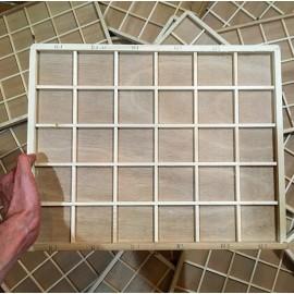 casier tiroir petit ancien en bois vintage impression casse échantillon 1970 imprimeur