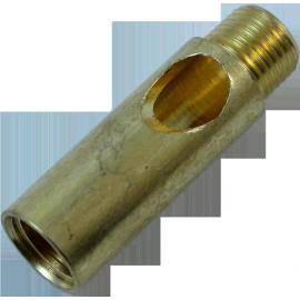 tube laiton sortie de câble M10 filetage laiton laitonnée doré or poli métal électrique électricité