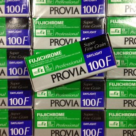 fuji provia 100f slide films positive color 120 medium camera