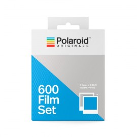 bipack pellicule polaroid originals film impossible project 600 couleur et noir et blanc bord blanc