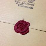 pochette surprise 10 papiers anciens cachet de cire