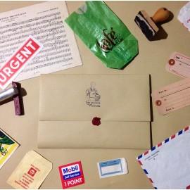 vintage set of papers antique surprise